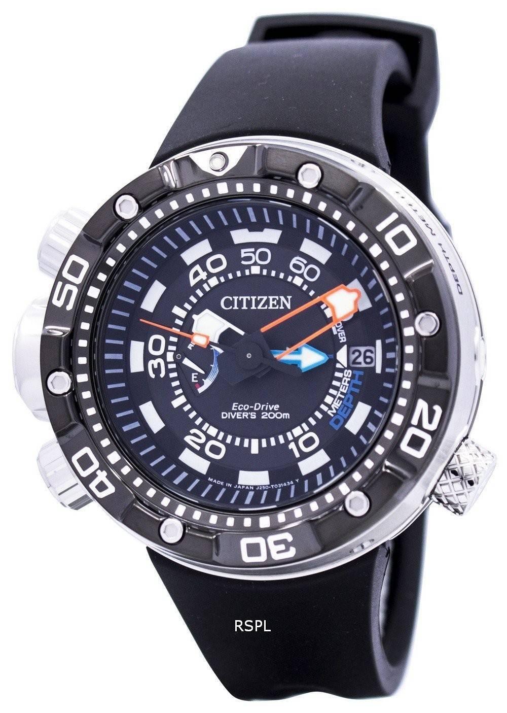 Citizen Promaster Aqualand Eco-Drive Divers BN2024-05E Mens Watch ... c45fca5a62b