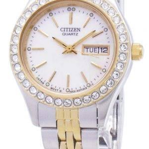 Citizen Quartz EQ0534-50D Diamond Accents Analog Women's Watch