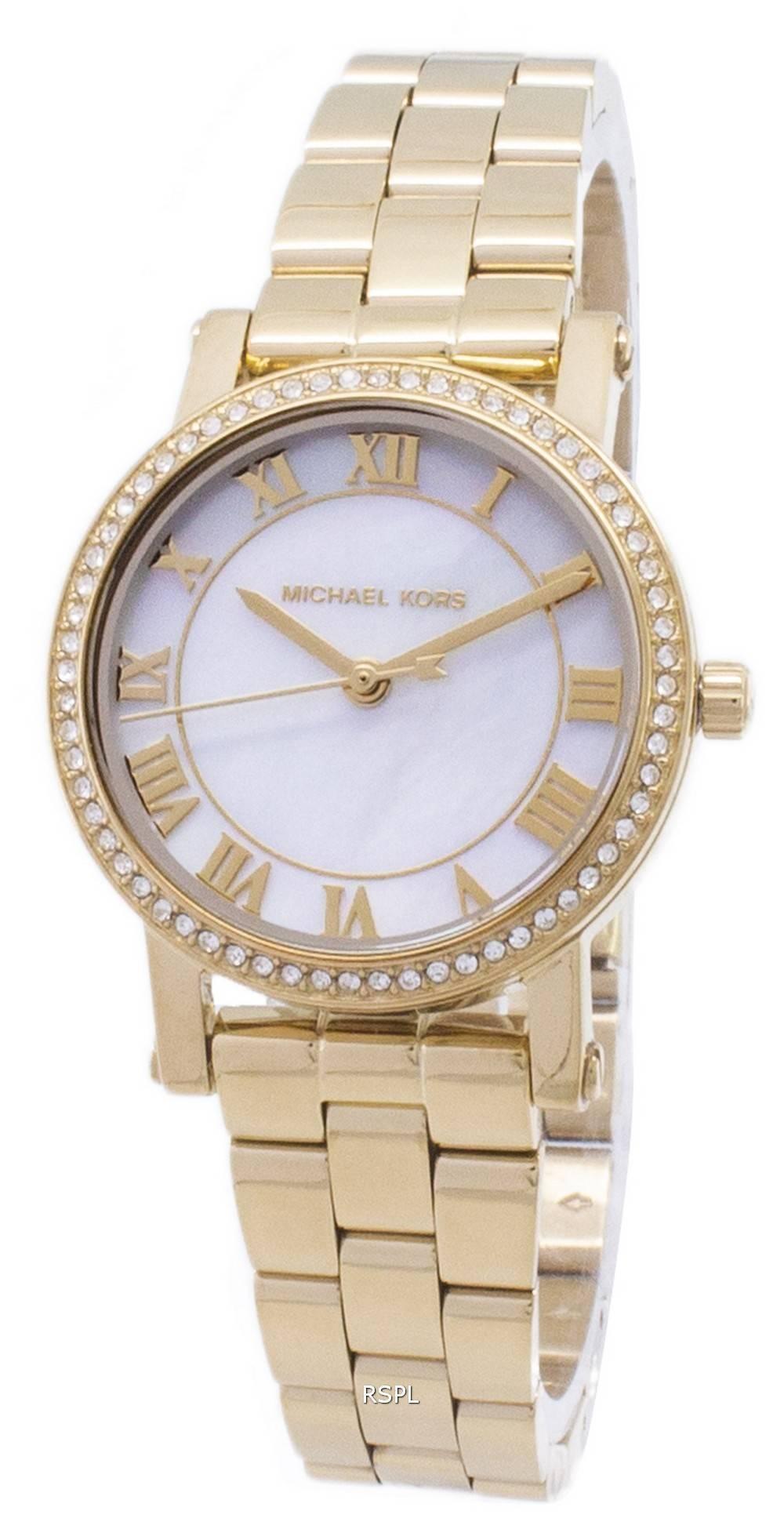 5e473c013bb2 Michael Kors Petite Norie Quartz Diamond Accent MK3682 Women s Watch ...