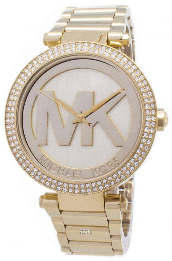 Michael Kors Parker Crystals MK Logo MK5784 Womens Watch