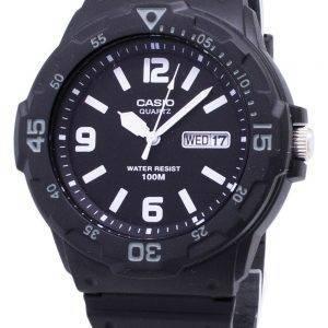 Casio Quartz Analog 100M Black Resin Strap MRW-200H-1B2VDF MRW-200H-1B2V Mens Watch