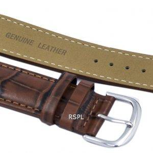 Brown Ratio Brand Leather Strap 22mm For SKX007, SKX009, SKX011, SNZG07, SNZG015