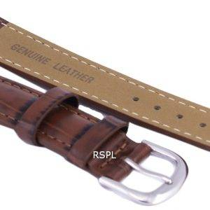Dark Brown Ratio Brand Leather Strap 18mm