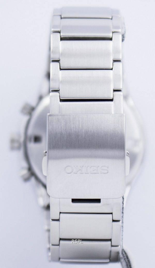 Seiko Sportura Solar World Time Chronograph SSC479 SSC479P1 SSC479P Mens Watch